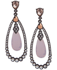 Jenny Packham Hematite-Tone Crystal Drop Earrings