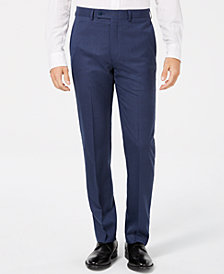Calvin Klein Men's Slim-Fit Blue Solid Dress Pants