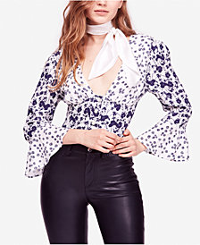 Free People Lady Bohemian Printed Blouse