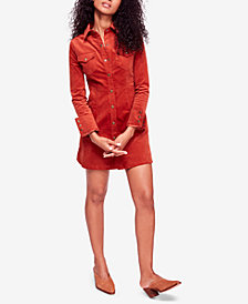 Free People Dynomite In Corduroy Mini Dress