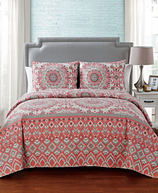 VCNY Home Pina Reversible Quilt Set Collection