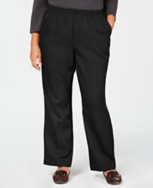 Karen Scott Plus Size Mid-Rise Pull-On Pants, Created for Macy's