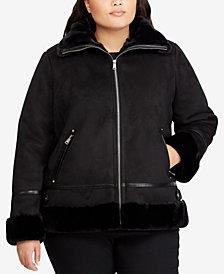 Lauren Ralph Lauren Plus Size Moto Jacket