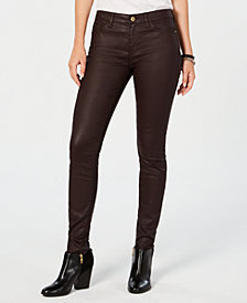 Tommy Hilfiger Waxed Denim Skinny Jeans, Created for Macy's