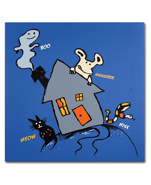Trademark Global Carla Martell 'Halloween House' Canvas Art Print Collection