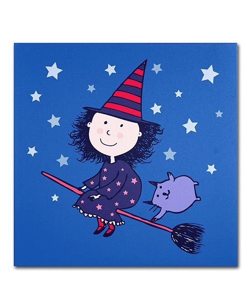 "Trademark Global Carla Martell 'Lovely Little Witch' 14"" x 14"" Canvas Art Print"