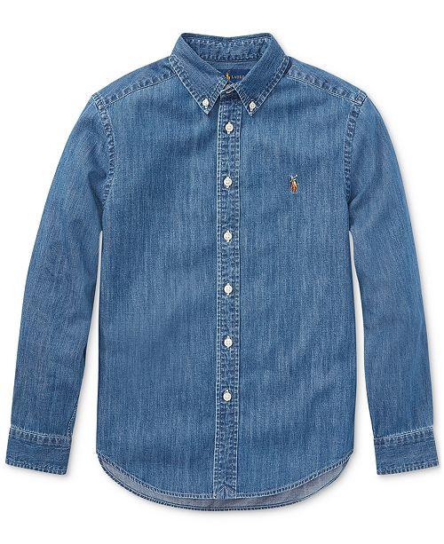 b18e80318 Polo Ralph Lauren Big Boys Cotton Chambray Sport Shirt   Reviews ...
