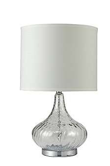 "24.5"" Leann Fluted Clear Glass Table Lamp"