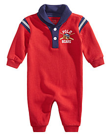 Ralph Lauren Baby Boys Polo Varsity Cotton Coverall