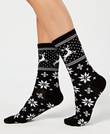 Norwegian Reindeer Socks, Created for Macy's