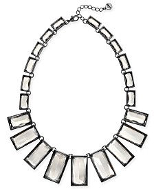 "Alfani Glass Geometric Statement Necklace, 17"" + 2"" extender, Created for Macy's"