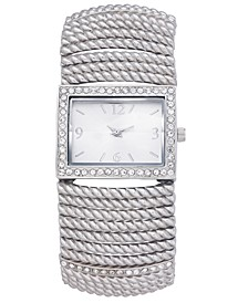 Women's Stretch Silver-Tone Bracelet Watch 42mm, Created for Macy's