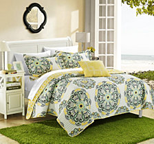 Chic Home Madrid 4 Piece King Quilt Set