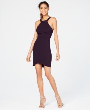 City Studios Juniors' Open-Back Bodycon Dress, Created for Macy's