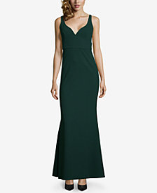 Betsy & Adam V-Neck Gown