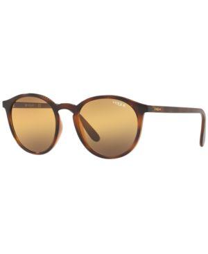 VOGUE Eyewear Sunglasses, Vo5215S 51 in Top Havana Light Brown / Orange Grad Grey Grad Grey