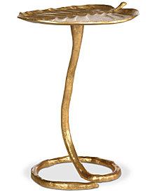 Mina Foil Petal Side Table, Quick Ship
