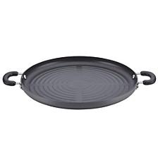 "Classic Hard-Anodized Nonstick Jumbo 14""  Grill Pan"