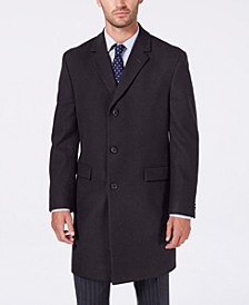 Men's Classic/Regular Fit Batten Overcoat