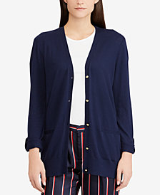 Lauren Ralph Lauren Button-Down Stretch Cardigan