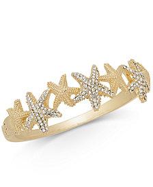 Charter Club Gold-Tone Pavé Starfish Bangle Bracelet, Created for Macy's
