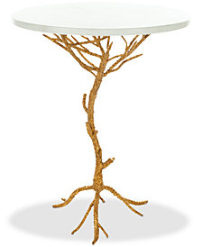 Carolyn Rooted Accent Table, Quick Ship