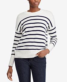 Lauren Ralph Lauren Striped Cotton-Blend Sweater