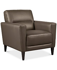 "Tosella 33"" Leather Armchair, Created for Macy's"
