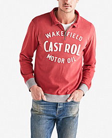 Lucky Brand Mens Castrol Zip Sweater