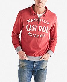 Lucky Brand Mens Castrol Zip Sweater