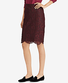 Lauren Ralph Lauren Scalloped Lace Skirt