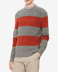 Calvin Klein Men's Mock-Neck Striped Sweater