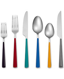 Fiesta Merengue Multi-Tone 24-Pc. Flatware Set with Steak Knives, Created for Macy's