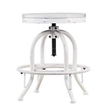 Industrial Adjustable Height Swivel Counter Stool