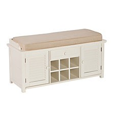 Antebellum Shoe Storage Bench, Quick Ship