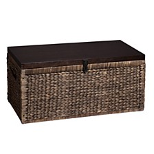 Water Hyacinth Storage Trunk, Quick Ship