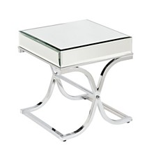 Ava Mirrored End Table, Quick Ship