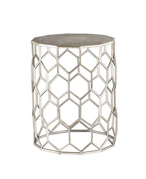 Southern Enterprises Clarissa Metal Accent Table, Quick Ship