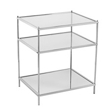 Knox Glam Mirrored Side Table, Quick Ship