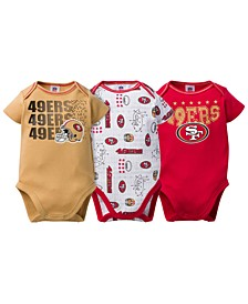 San Francisco 49ers 3 Pack Creeper Set, Infants (0-9 Months)