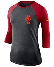 Nike Women's Iowa State Cyclones Dri-Blend Raglan T-Shirt