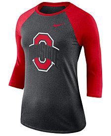 Nike Women's Ohio State Buckeyes Dri-Blend Raglan T-Shirt