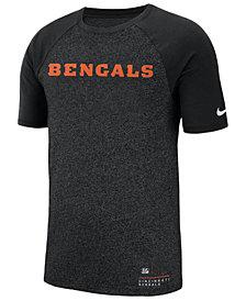 Nike Men's Cincinnati Bengals Marled Raglan T-Shirt