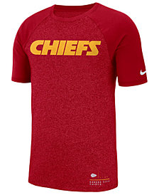 Nike Men's Kansas City Chiefs Marled Raglan T-Shirt