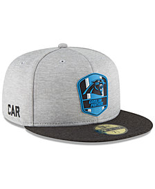 New Era Boys' Carolina Panthers Official Sideline Road 59FIFTY Fitted Cap