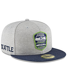 New Era Boys' Seattle Seahawks Official Sideline Road 59FIFTY Fitted Cap