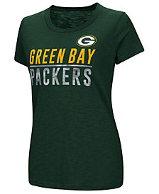 G-III Sports Women's Green Bay Packers Dynasty Stacked Glitter T-Shirt