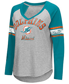 G-III Sports Women's Miami Dolphins Sideline Long Sleeve T-Shirt