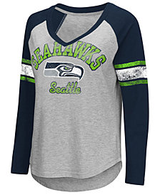 G-III Sports Women's Seattle Seahawks Sideline Long Sleeve T-Shirt