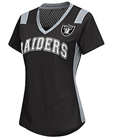 G-III Sports Women's Oakland Raiders Wildcard Jersey T-Shirt